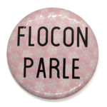Motif flocon rose